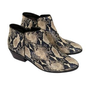 Sam Edelman Petty Snakeskin Leather Ankle Boots